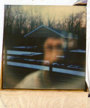Polaroid photo containing a mysterious presence, paranormal photo, ghost presence in photograph, Strange Occurrences paranormal investigators Wellington new Zealand