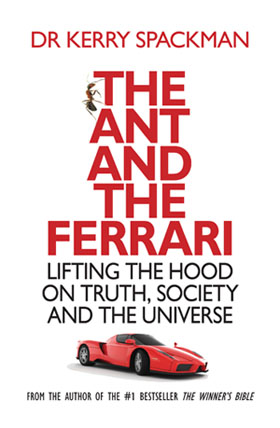 Cover of The Ant and the Ferrari, by Dr kerry Spackman, review by james Gilberd