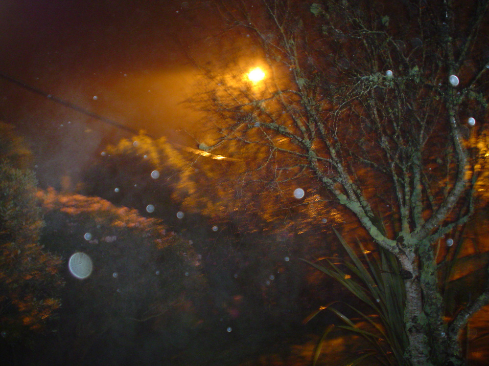 paranormal photograph orbs caused by raindrops ectoplasmic mist