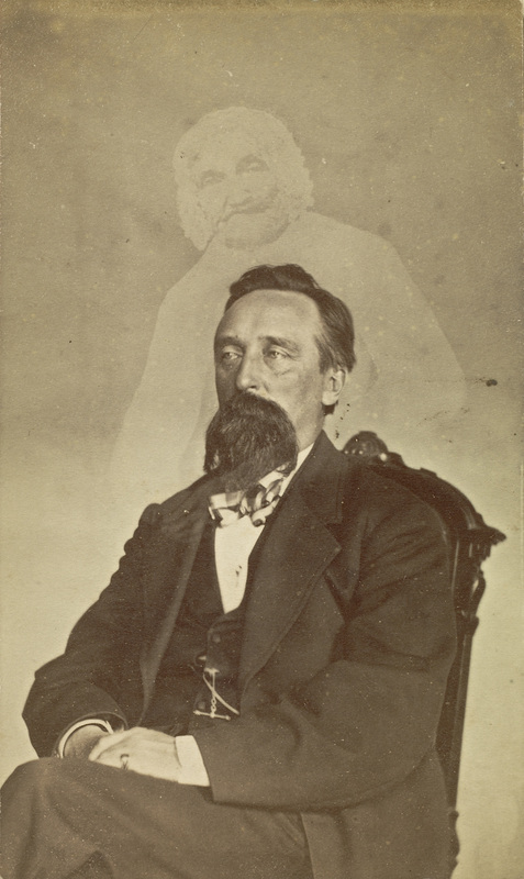 John J Glover and spirit, by Mumler, Photography and the Paranormal article by James Gilberd