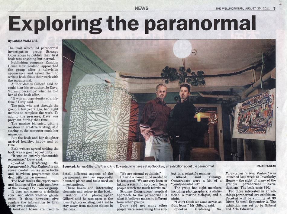 Exploring the paranormal by Laura Walters The Wellingtonian Strange Occurrences press