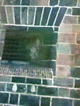 Ghostly face, Castle Williams, Governors Island, NY, pareidolia, apophenia, matrixing, paranormal photo, ghost photo, New Zealand Strange Occurrences Society, photo is copyright