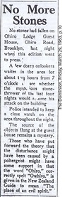 The Brooklyn Dodger stone throwing poltergeist case in Wellington New Zealand March 1963 Dominion newspaper clipping 3