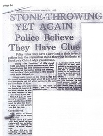 The Brooklyn Dodger stone throwing poltergeist case in Wellington New Zealand March 1963 Dominion newspaper clipping 2