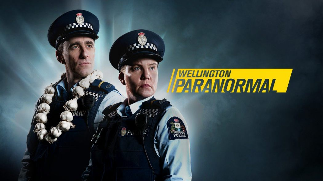 Wellington Paranormal poster tv2, taika waititi Jemaine clement, strange occurrences paranormal investigators wellington new zealand